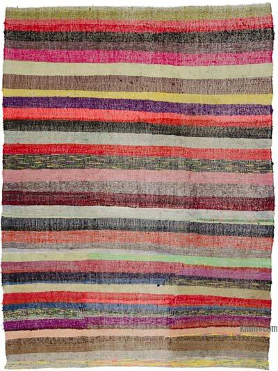 "Vintage Turkish Pala Kilim (Chaput) - 7' 3"" x 9' 8"" (87 in. x 116 in.)"