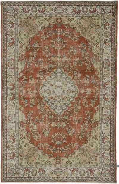 """Turkish Vintage Area Rug - 6' 11"""" x 10' 9"""" (83 in. x 129 in.)"""
