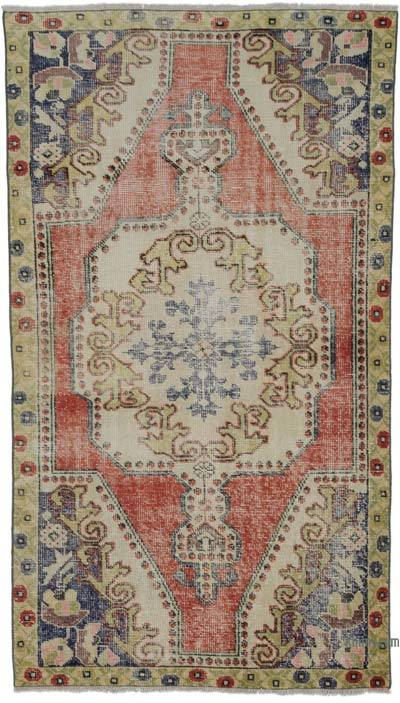 """Turkish Vintage Area Rug - 4' 4"""" x 7' 5"""" (52 in. x 89 in.)"""