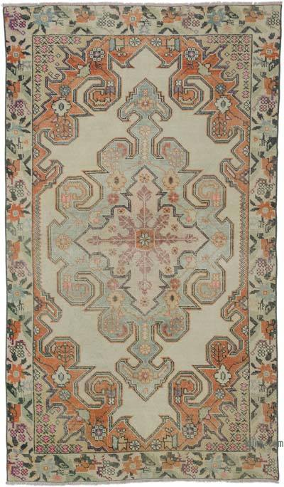 """Vintage Turkish Hand-Knotted Rug - 4' 4"""" x 7' 6"""" (52 in. x 90 in.)"""