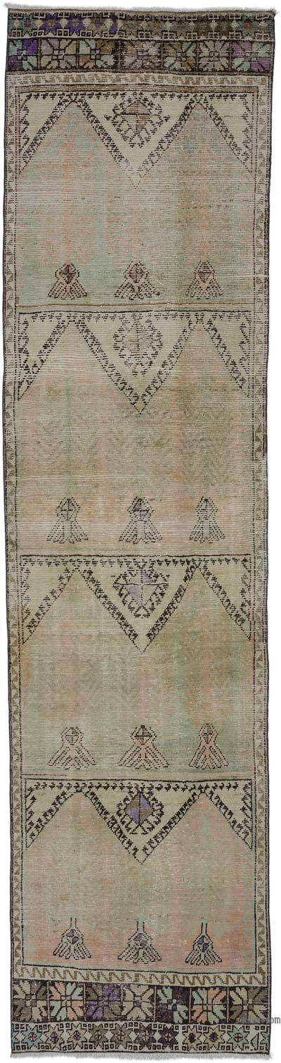 "Vintage Turkish Runner Rug - 3' 4"" x 13'  (40 in. x 156 in.)"