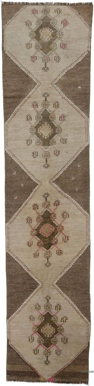 "Vintage Turkish Runner Rug - 2' 11"" x 12'  (35 in. x 144 in.)"