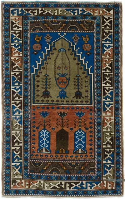 "Turkish Vintage Area Rug - 3' 6"" x 5' 6"" (42 in. x 66 in.)"