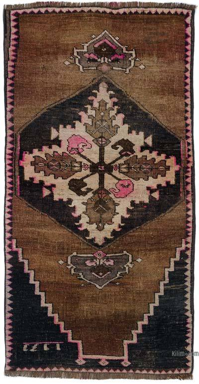 "Turkish Vintage Area Rug - 2' 2"" x 4' 3"" (26 in. x 51 in.)"