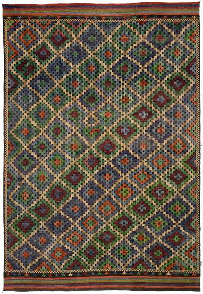 "Vintage Turkish Jijim Rug - 7' 6"" x 11' 1"" (90 in. x 133 in.)"
