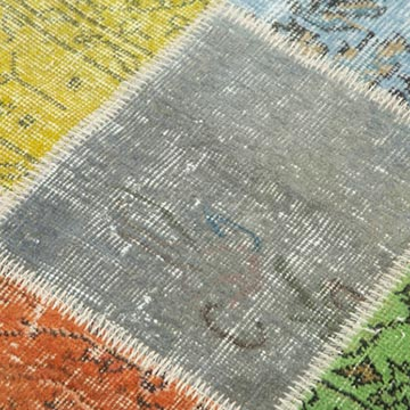 Çok Renkli Boyalı Patchwork Halı - K0049631