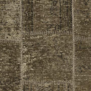 """Brown Patchwork Hand-Knotted Turkish Runner - 2' 11"""" x 10'  (35 in. x 120 in.) - K0049634"""