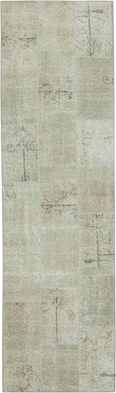 "Over-dyed Turkish Patchwork Runner Rug - 2' 10"" x 9' 11"" (34 in. x 119 in.)"
