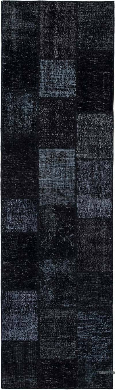 "Over-dyed Turkish Patchwork Runner Rug - 2' 10"" x 9' 10"" (34 in. x 118 in.)"
