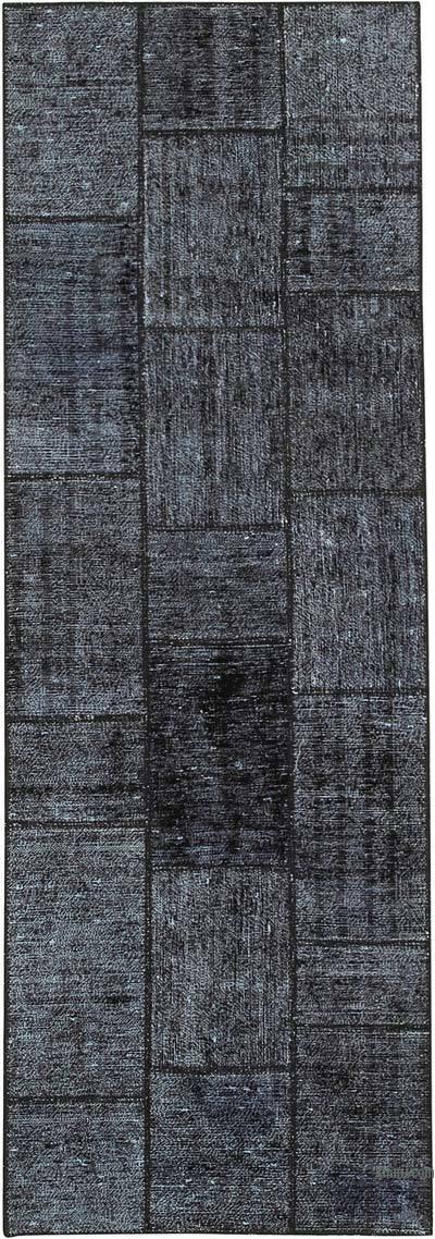 Alfombra De Retazos Turca Sobre-teñida - 85 cm x 248 cm