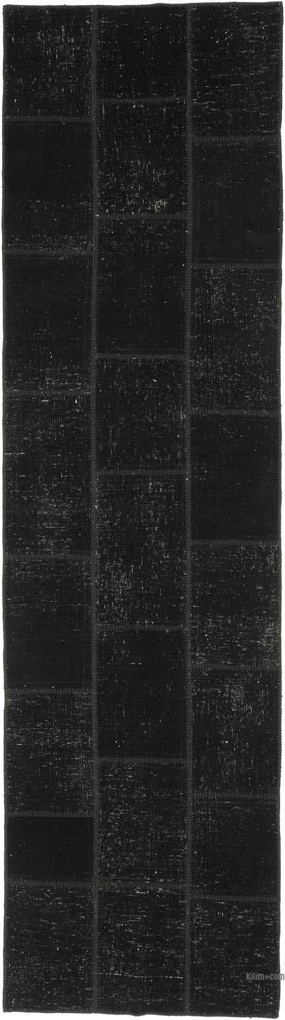 """Patchwork Hand-Knotted Turkish Rug - 2' 9"""" x 10' 2"""" (33 in. x 122 in.)"""