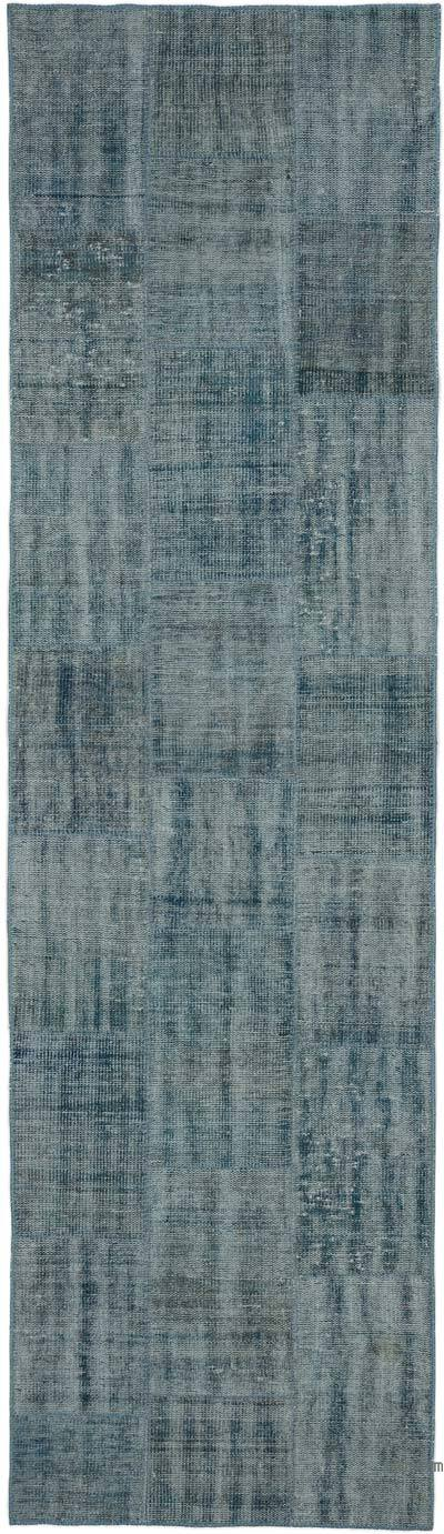 """Over-dyed Turkish Patchwork Runner Rug - 2' 9"""" x 9' 11"""" (33 in. x 119 in.)"""