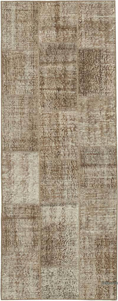 "Over-dyed Turkish Patchwork Runner Rug - 2' 10"" x 7' 3"" (34 in. x 87 in.)"