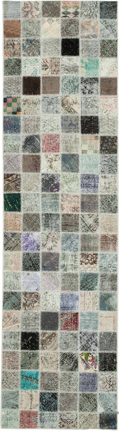 """Over-dyed Turkish Patchwork Runner Rug - 2' 10"""" x 10' 6"""" (34 in. x 126 in.)"""