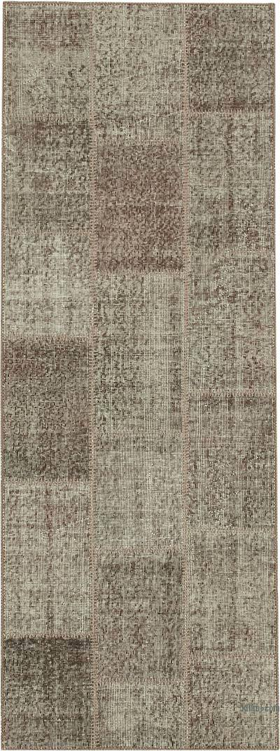 """Over-dyed Turkish Patchwork Runner Rug - 2' 9"""" x 7' 7"""" (33 in. x 91 in.)"""