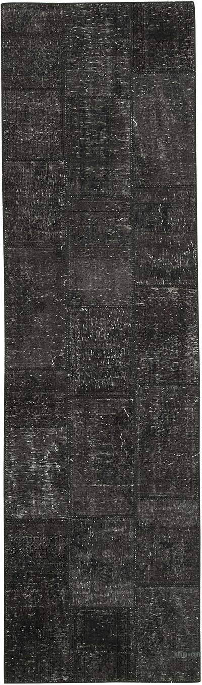 "Patchwork Hand-Knotted Turkish Rug - 2' 9"" x 9' 9"" (33 in. x 117 in.)"