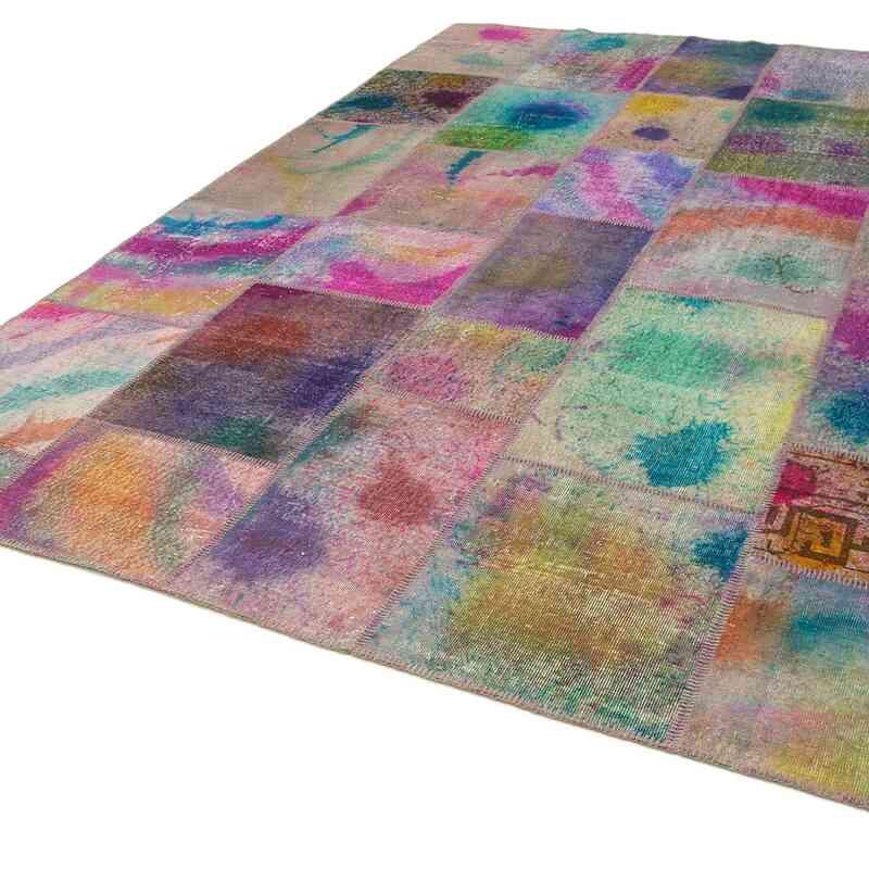 Çok Renkli Boyalı Patchwork Halı - 249 cm x 351 cm - K0049675