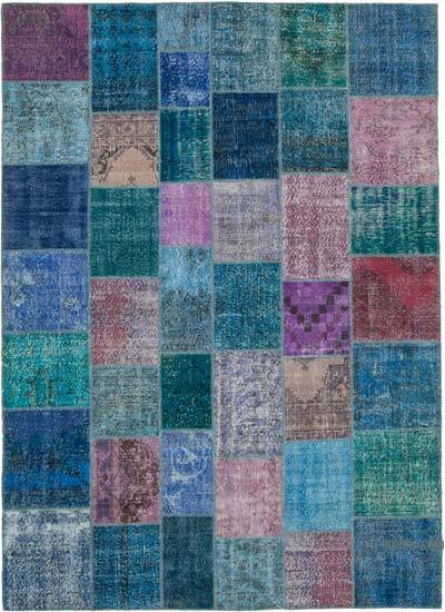 "Hand-knotted Turkish Patchwork Rug - 8' 3"" x 11' 7"" (99 in. x 139 in.)"