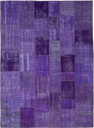"Hand-knotted Turkish Patchwork Rug - 8' 2"" x 11' 6"" (98 in. x 138 in.)"