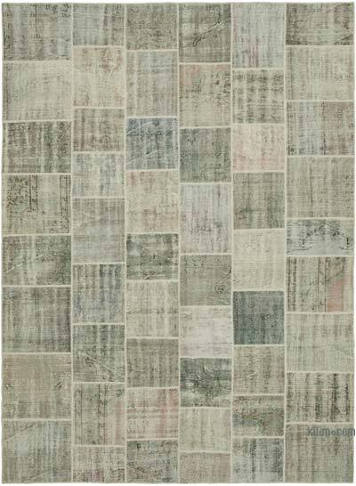 "Hand-knotted Turkish Patchwork Rug - 8' 5"" x 11' 5"" (101 in. x 137 in.)"