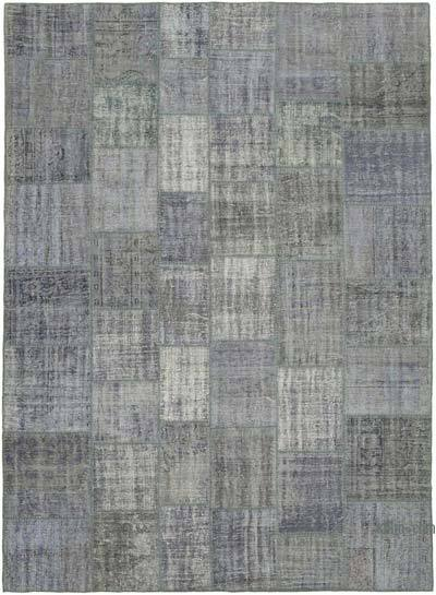 "Hand-knotted Turkish Patchwork Rug - 8' 5"" x 11' 7"" (101 in. x 139 in.)"