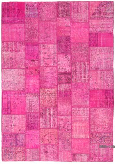 """Hand-knotted Turkish Patchwork Rug - 8'  x 11' 7"""" (96 in. x 139 in.)"""