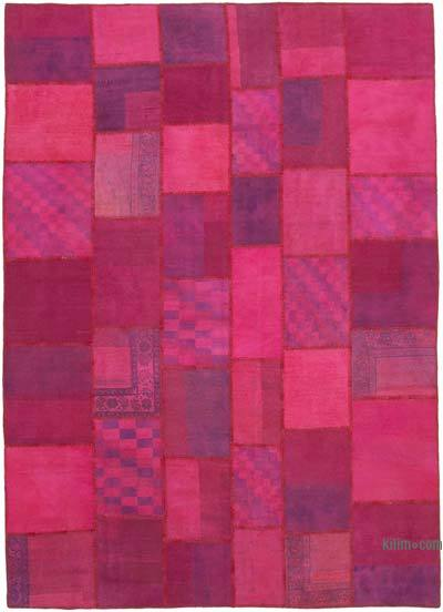 "Patchwork Hand-Knotted Turkish Rug - 8' 4"" x 11' 6"" (100 in. x 138 in.)"