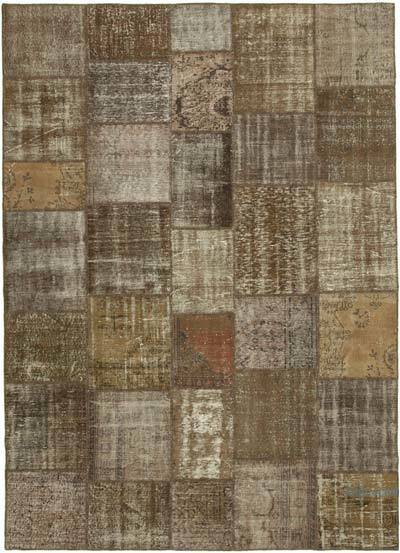 """Hand-knotted Turkish Patchwork Rug - 8' 4"""" x 11' 8"""" (100 in. x 140 in.)"""