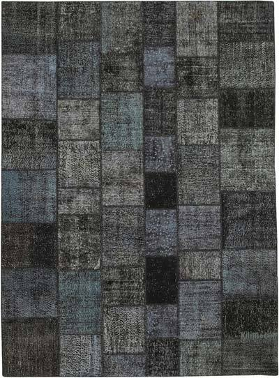 """Hand-knotted Turkish Patchwork Rug - 8' 4"""" x 11' 7"""" (100 in. x 139 in.)"""