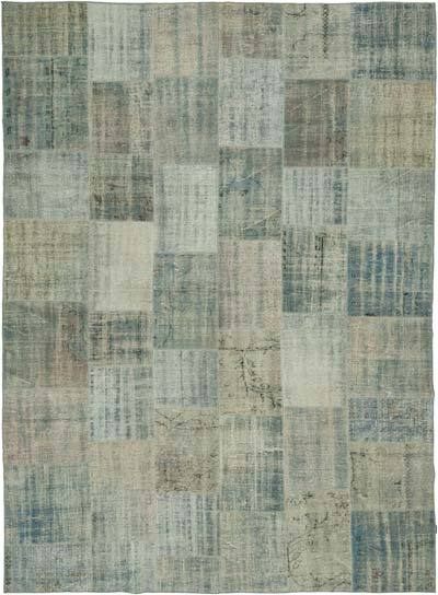 "Hand-knotted Turkish Patchwork Rug - 8' 6"" x 11' 6"" (102 in. x 138 in.)"