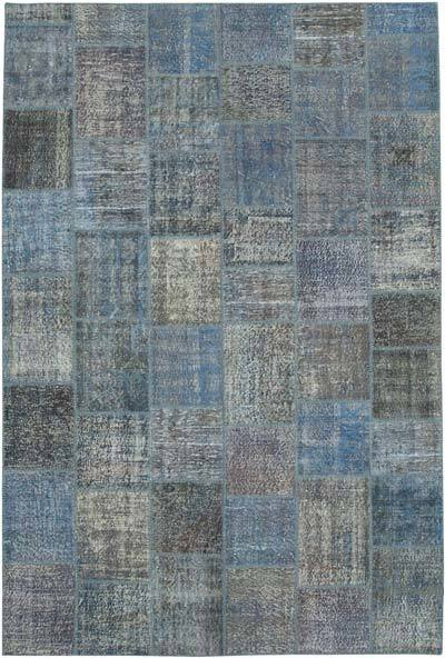 "Hand-knotted Turkish Patchwork Rug - 7' 9"" x 11' 7"" (93 in. x 139 in.)"