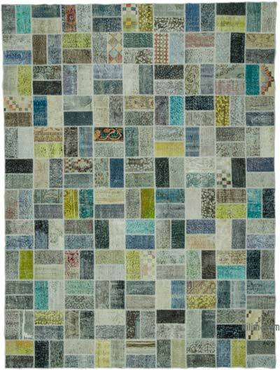 "Hand-knotted Turkish Patchwork Rug - 8' 8"" x 11' 7"" (104 in. x 139 in.)"