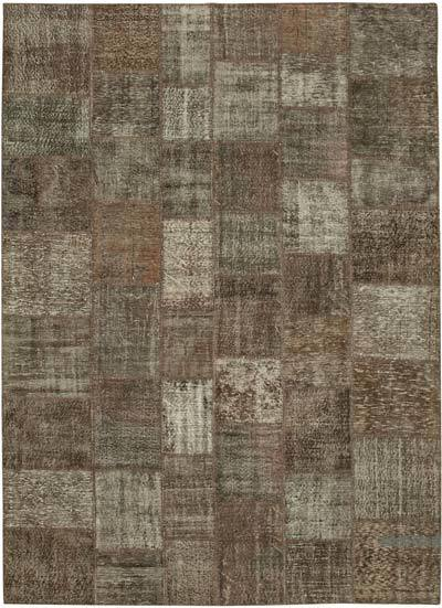 """Hand-knotted Turkish Patchwork Rug - 8' 4"""" x 11' 6"""" (100 in. x 138 in.)"""