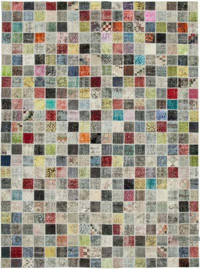 "Hand-knotted Turkish Patchwork Rug - 8' 5"" x 11' 6"" (101 in. x 138 in.)"