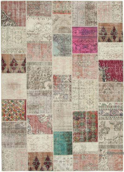 """Hand-knotted Turkish Patchwork Rug - 8' 3"""" x 11' 7"""" (99 in. x 139 in.)"""