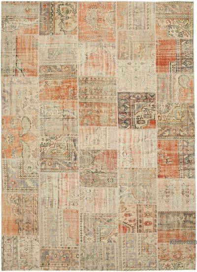 """Hand-knotted Turkish Patchwork Rug - 8' 6"""" x 11' 10"""" (102 in. x 142 in.)"""