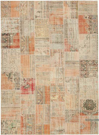 """Patchwork Hand-Knotted Turkish Rug - 8' 5"""" x 11' 7"""" (101 in. x 139 in.)"""