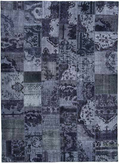 """Hand-knotted Turkish Patchwork Rug - 8' 5"""" x 11' 8"""" (101 in. x 140 in.)"""
