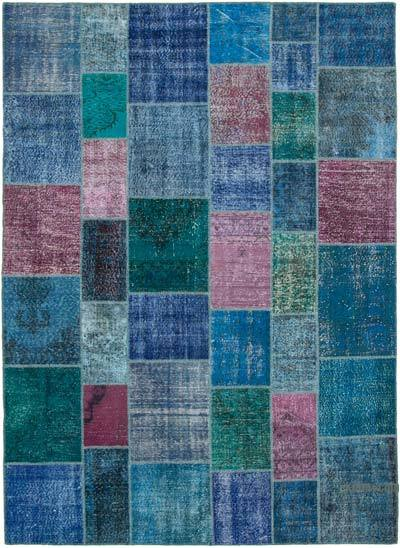 """Hand-knotted Turkish Patchwork Rug - 8' 6"""" x 11' 8"""" (102 in. x 140 in.)"""