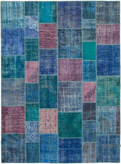 """Hand-knotted Turkish Patchwork Rug - 8' 6"""" x 11' 7"""" (102 in. x 139 in.)"""