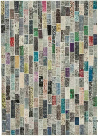 "Hand-knotted Turkish Patchwork Rug - 8' 4"" x 11' 10"" (100 in. x 142 in.)"