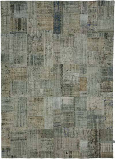 """Hand-knotted Turkish Patchwork Rug - 8' 2"""" x 11' 6"""" (98 in. x 138 in.)"""