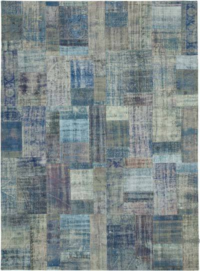 "Hand-knotted Turkish Patchwork Rug - 8' 3"" x 11' 5"" (99 in. x 137 in.)"