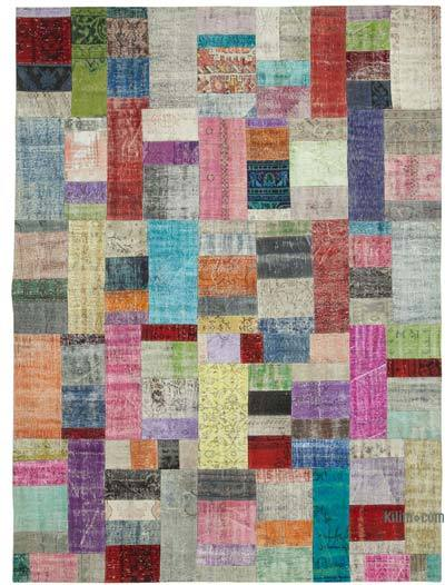 """Hand-knotted Turkish Patchwork Rug - 9'  x 12' 1"""" (108 in. x 145 in.)"""
