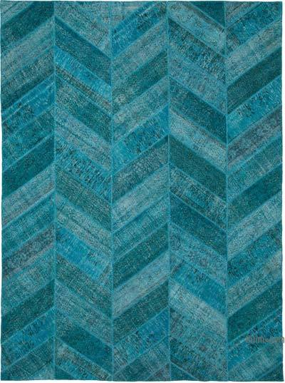"Hand-knotted Turkish Patchwork Rug - 9' 1"" x 12' 2"" (109 in. x 146 in.)"