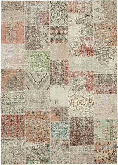 """Hand-knotted Turkish Patchwork Rug - 8' 2"""" x 11' 7"""" (98 in. x 139 in.)"""