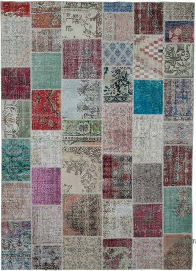 "Hand-knotted Turkish Patchwork Rug - 8' 2"" x 11' 5"" (98 in. x 137 in.)"