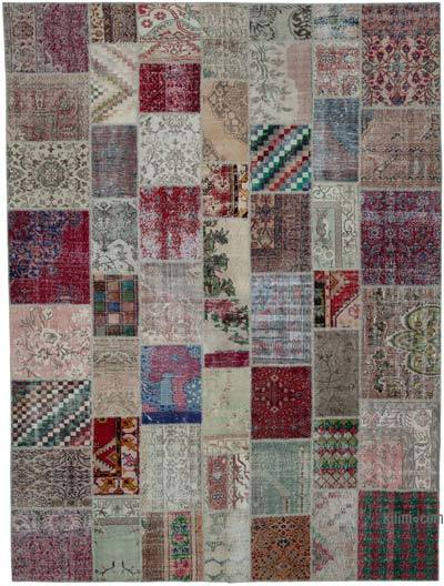 "Hand-knotted Turkish Patchwork Rug - 9'  x 11' 11"" (108 in. x 143 in.)"