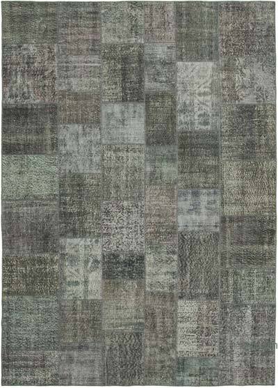 """Hand-knotted Turkish Patchwork Rug - 8' 1"""" x 11' 6"""" (97 in. x 138 in.)"""