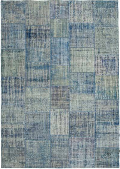 """Hand-knotted Turkish Patchwork Rug - 8'  x 11' 5"""" (96 in. x 137 in.)"""